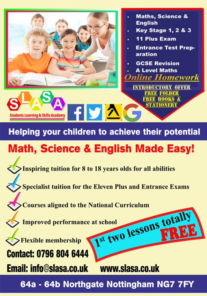 Help Available in Maths, Science and English